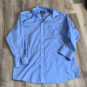 Men's blue collared button up